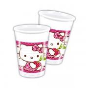 Hello Kitty műanyag pohár 200 ml 8 db/cs