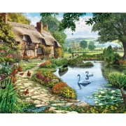 White Mountain Puzzles Lakeside Cottage - 1000 Piece Jigsaw Puzzle by White Mountain Puzzles