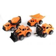 Dazzling Toys Construction Trucks Set. Includes 1 Cement Truck, 1 Bulk Truck, 1 Dump Truck And 1 Excavator.