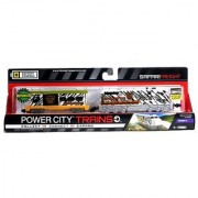 Power Trains Series 3 Battery Powered Motorized Train Engine Set - SAFARI FREIGHT with Working Headlight and 2 Speed Setting Plus 1 Support Car 2013