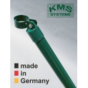 KMS Rundstrebe Ø 34 mm, 125 cm lang, mit Schelle Ø 60 mm für Torpfosten