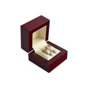 Dřevěná dárková krabička na snubní prsteny VB-2/NA