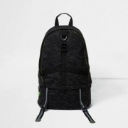River Island Mens Dark Grey jersey sports backpack
