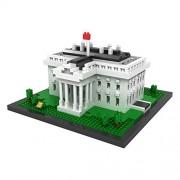 You Cute Loz Micro Blocks,The White Hourse, Small Building Block Set, Nanoblock Compatible (1170 Pcs)