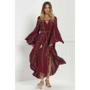 Zaful Robe Imprimée à motif tribal manches cloche