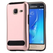 MOTOMO for Samsung Galaxy J1 Mini(2016) / J105 Armor Metal + TPU Protective Case(Rose Gold)