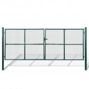 vidaXL Záhradná brána s výplňou z pletiva 415 x 200 cm / 400 150