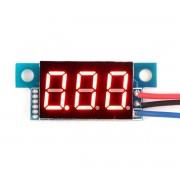 Červený Mini Voltmeter na skrutky 0-100V