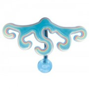 Piercing de nombril inversé Tribal vague bleue