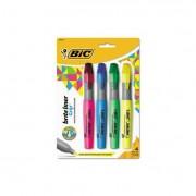Brite Liner Grip Highlighter, Chisel Tip, Assorted Colors, 4/set