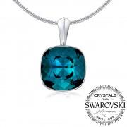 Silvego SILVEGO stříbrný přívěsek se Swarovski(R) Crystals Indicolite 12mm - VSW048P