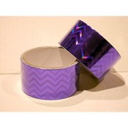 Holographic Duct Tape 2 Rolls 1.89 x15 Feet Each Roll (Purple)