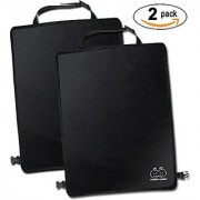 Freddie and Sebbie Kick Mats- Luxury Car Seat Back Protectors 2 Pack Perfect Backseat Organizer and Seat Covers For Car