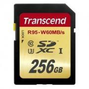 Памет Transcend 256GB SDXC UHS-I U3 Card / TS256GSDU3