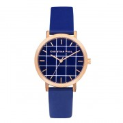 Christian Paul - Balmoral special edition Grid 35MM - Rose Gold / Blue