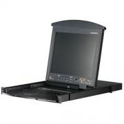 Aten 16 Port Rackmount Dual Rail PS2-USB KVM Switch 19 LCD Display (CL-5816NA)