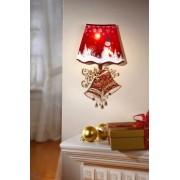 Decoratiune de perete cu led lampa de Craciun