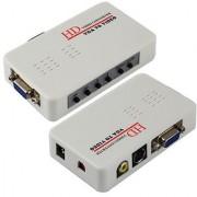 HD VGA to RCA AV Signal TV S-Video Converter Box Adapter