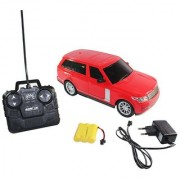 BIG SIZE REMOTE CONTROL RECHARGEABLE RANGE ROVER 116 SCALE (RED BLACK COLOUR)