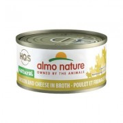 Almo Nature Natural Chicken and Cheese Adult Grain-Free Canned Cat Food, 2.47-oz, case of 24