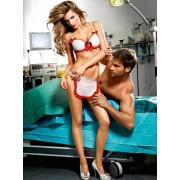 Baci White nurses' bikini with apron and red details 1235 - Small/Medium