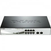 суич D-Link 8-port 10/100/1000 Gigabit PoE Smart Switch including 2 Combo 1000BaseT/SFP - DGS-1210-08P