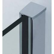 VB ITALIA Cabina doccia rettangolare anta battente in vetro temprato 100x70