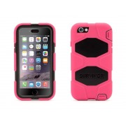 Griffin Survivor All-Terrain hardcase iPhone 6(S) roze/zwart