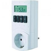GAO digitális heti időkapcsoló óra konnektorba, 2 pólusú, 3680W, 16 program, EMT 799 (610633)