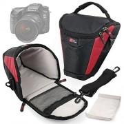 Borsa Viaggio Per Sony Cyber-shot HX350 / DSC-HX90V / HX90 | A99 II | a68 | DSC-RX10M3 / RX10 III | a6300 | RX10 II, DSC-RX10M2 | a7R II, ILCE-7RM2 | a6000 | a6000L - Con Tracolla + Maniglia - DURAGADGET