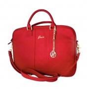 Guess Scarlett Bag - луксозна дизайнерска чанта с дръжки и презрамка за преносими компютри до 13.3 инча (червена)