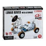 4 D Puzzles Pz26374 Lunar Rover With Astronaut 4 D Puzzle 55 Pieces 1 35