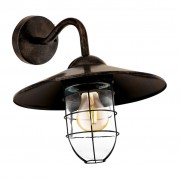 EGLO Muurlamp voor buiten Melgoa 60 W donkerbruin 94863