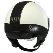 Casco Moto Donna Jet Max Posh Shiny White Black