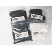 Fundamental Rockhound Products: 4 Step Rock Tumbling GRIT KIT for tumble polishing rocks for 3 pound tumbler Single Use Refill