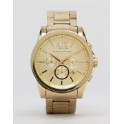 Armani Exchange AX2099 Chronograph Gold Stainless Steel Strap Watch - Gold (Sizes: )