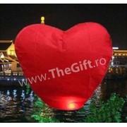 Lampion zburator, in forma de inima
