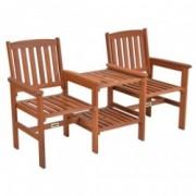 Set doua scaune si masuta din lemn masiv HECHT TEEBENCH