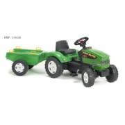 Falk 1061B Farm Master 680I - Tractor a pedales con remolque, color verde
