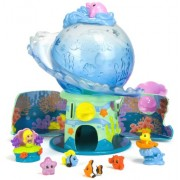 Squinkies AQUA SURPRISE AQUARIUM Dispenser + 4 Squinkies