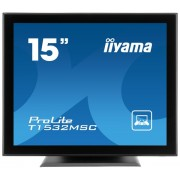 "Monitor TN LED iiyama 15"" T1532MSC-B1, VGA, DVI-D, 8 ms, Touchscreen, Boxe (Negru)"