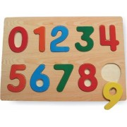 Kids Playschool Preschool Puzzled Raised Puzzle Small - Numbers Wooden Toys