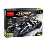 Papatchaya Marvel Super Heroes Batman Chariot Tumbler Building Blocks Decool 7105 Joker Bricks toys Compatible with Lego minifigures (No Original Box)