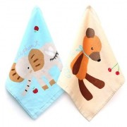Baby Face Towel Cartoon Printed - Pack of 24