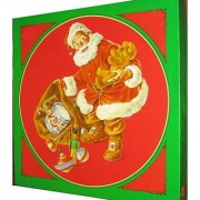 Christmas Magic 500 Piece Round Puzzle By Current Featuring Santa Claus With A Bag Of Toys
