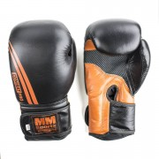 MM Combat Boxing Glove, Black/Orange 10