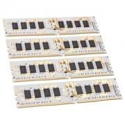 Memorie GeIL Dragon RAM Black IC 16GB (4x4GB) DDR4 2400MHz 1.2V CL15 Quad Channel Kit, GWB416GB2400C14QC