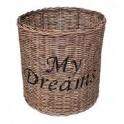 Ronde Rieten Hanglampenkap My Dreams - 35x26 cm