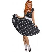 Rock n roll jurk zwart met wit 38