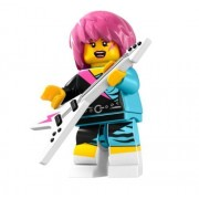 LEGO Minifigures Series 7 Rocker Girl COLLECTIBLE Figure Humble Music Rock Electric Guitar by Moomin